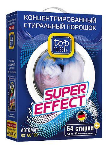 TOP HOUSE Концентрированный суперэффективный стиральный порошок АВТОМАТ, 4,5 кг
