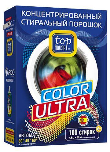 TOP HOUSE Концентрированный стиральный порошок Color Ultra, 4,5 кг