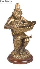 Скульптура Империя Богачо Обезьяна с подносом (22467 Б)