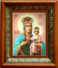 Озерянская икона БМ (19х22), светлый киот