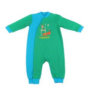 Комбинезон для яслей синий с зеленым от Коган кидс 012-006