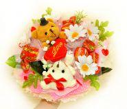"""Букет из игрушек и конфет №430-2К """"Сладкая девочка"""""""