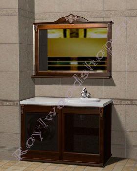 "Мебель для ванной ""Глазго КОМБИ-L орех"""