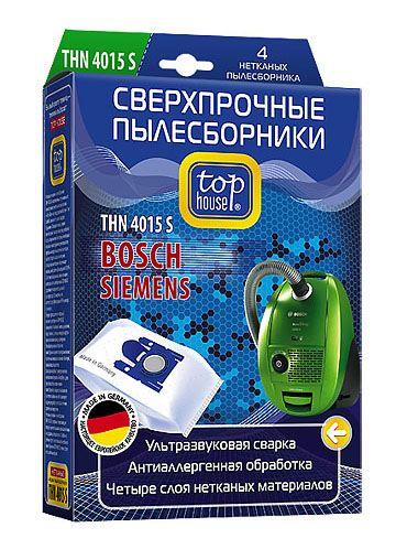 TOP HOUSE THN 4015 S сверхпрочные нетканые пылесборники, 4 шт.