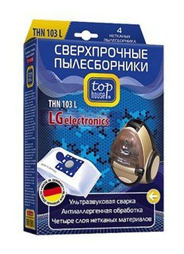 TOP HOUSE THN 103 L сверхпрочные нетканые пылесборники, 4 шт.