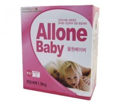 040228 ALLONE Концентрированный синтетический стиральный порошок для детского белья 1,8 кг (ложка)
