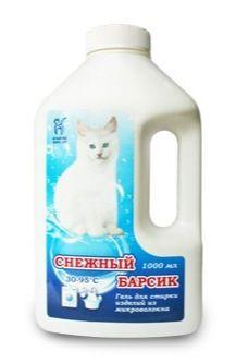 Белый Кот Гель для стирки микроволокна Снежный барсик 1 л