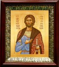 Александр Невский (19х22), темный киот