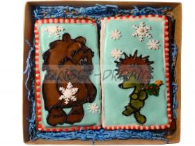 Сладкие подарки детские Пряники «Зимняя сказка»