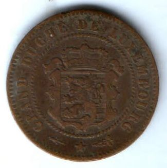 5 сантим 1854 г. Люксембург