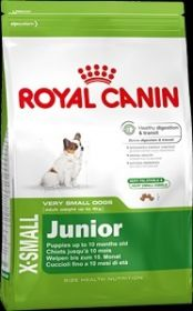 Royal Canin X-small junior для щенков собак миниатюрных (до 4 кг.) размеров до 10 мес. 3 кг.