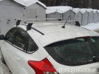 Багажник на крышу Ford Focus 2, 3, Атлант, аэродинамические дуги, опора Е