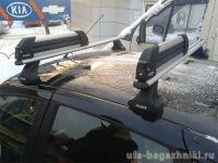 Багажник на крышу Lada Kalina sedan / hatchback, Атлант, аэродинамические дуги, опора Е