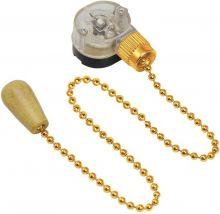 Выключатель для настенного светильника c деревянным наконечником, gold REXANT