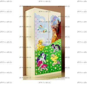 Шкаф 2-х дверный Пони Ш-3 (90х56х181)