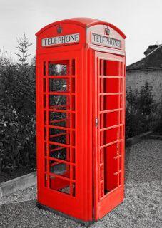Почтовая открытка Телефонная будка