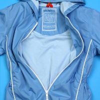 Голубая куртка для девочки