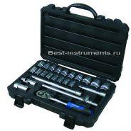 """4243-5 Набор инструментов  1/2"""" 6-гр.10-32 мм FORSAGE, 24 предмета"""