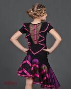"Платье для танцев латина для девочки, комплект ""Барбариска"""
