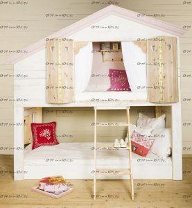 Кровать двухъярусная Домик №9 Wood