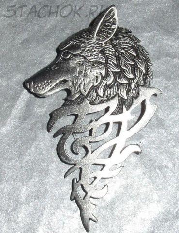 """Брошь """"Волк"""" под олово"""
