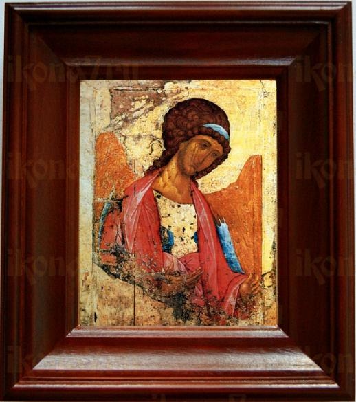 Михаил архангел (копия Рублева) (21х24), простой киот