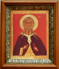 Илия пророк (19х22), светлый киот