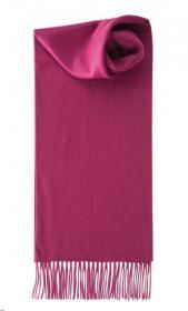 шарф 100% шерсть ягнёнка , классический  цвет Фуксия Fuchsia ,плотность 6