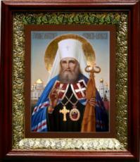 Филарет Московский (19х22), темный киот