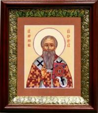 Мирон Критский (19х22), темный киот
