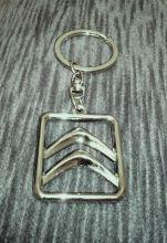 Брелок для ключей, с логотипом в квадрате, хромированый