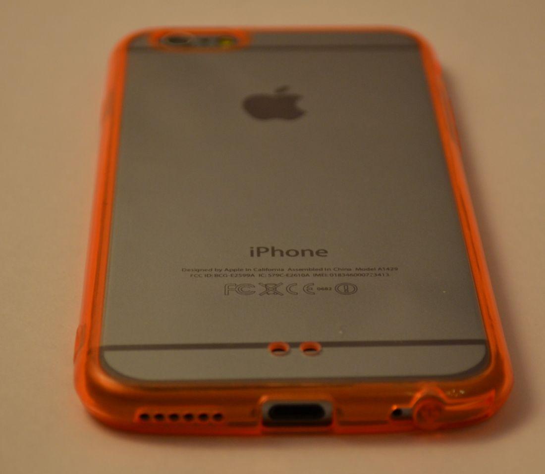 Силиконовый чехол с цветным бампером для iphone 6 (оранжевый)