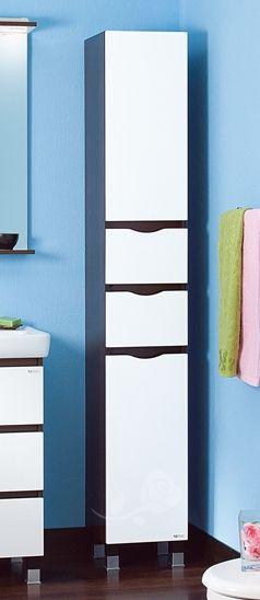 Пенал для ванной комнаты Бриклаер Токио 32 с бельевой корзиной, R