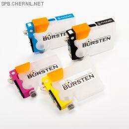 Перезаправляемые картриджи Bursten Nano 2 для Epson TX200, TX209, TX210, TX219, TX300F, TX400, TX409, TX410, TX419, ТХ510FN, TX600FW (T0731-T0734) x 4 шт.