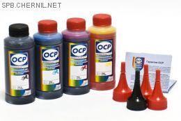 Чернила OCP для принтера и МФУ Canon MG2240, MG3240, MG3540, MG4240 (BK35, C710, M710, Y710) Safe Set, комплект 100 гр. x 4