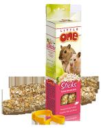 Little One Палочки для хомяков, крыс, мышей и песчанок с воздушным рисом и орехами (2 шт.)