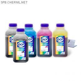 Чернила OCP для принтера Epson XP-600, XP-605, XP-610, XP-700, XP-800, XP-810 (BKP 115, BK 140, C 142, M 140, Y 140), картриджи T2601, T2611-T2614, комплект 500 гр. x 5