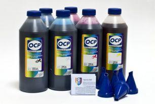 Чернила OCP для принтера Epson L100, L200, L300, L1300 (светостойкие - BK 155, C 155, M 155, Y 155) + коды, комплект 1000 гр. x 4