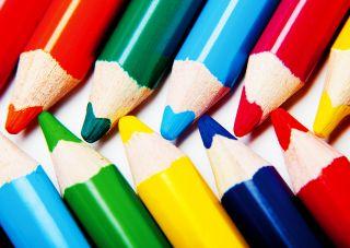 Почтовая открытка Цветные карандаши