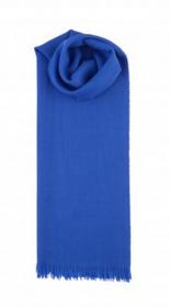 невесомый тонкорунный  палантин (большой шарф) 100% шерсть,  Кобальтовый Синий Cobalt Blue. плотность 1