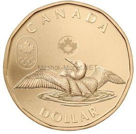 Канада 1 Доллар 2012 Олимпида Ванкувер 2010 Олимпийская утка