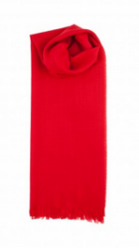 невесомый тонкорунный  палантин (большой шарф) 100% шерсть мериноса, Алый Red. плотность 1