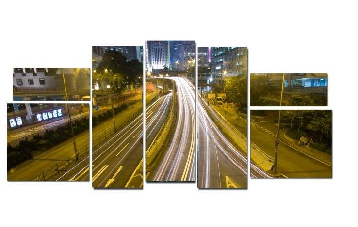 Модульная картина Ночное движение