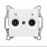 Розетка TV-R проходная 4 dB Sedna (алюминий)