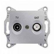 Розетка TV-SAT проходная 8 dB Sedna (алюминий)