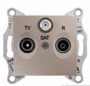 Розетка TV-R-SAT проходная 8 dB Sedna (алюминий)