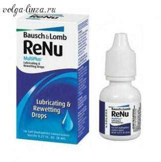 RENU MULTIPLUS DROPS -смазывающие и увлажняющие капли для увлажнения глаз и устранения дискомфорта