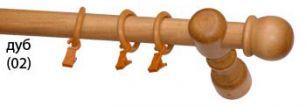 Карниз деревянный ДК 11 дуб