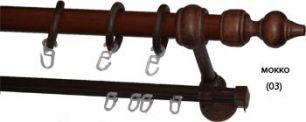 Карниз деревянный ДК 27Д мокко