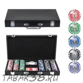 Покерный набор Wood 300 (фишки 11,5гр, кейс дерево)